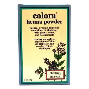 Colora Henna Veg-Hair Chestnut 2 oz. (3-Pack) with Free Nail File