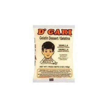 D'Gari Vanilla Gelatin, 5 oz (Pack of 24)