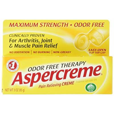 Aspercreme Odor Free Topical Analgesic Cream, 4 Count