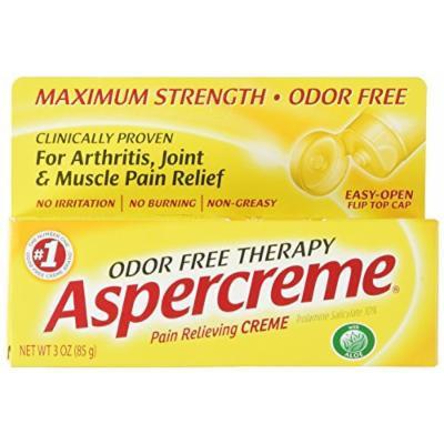 Aspercreme Odor Free Topical Analgesic Cream, 4 Count