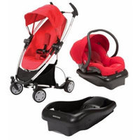 Quinny Zapp Xtra Stroller with Maxi-Cosi Mico AP Infant Car Seat and Extra Base - Red