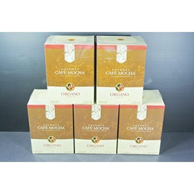 5 Organo Gold Gourmet Cafe Mocha coffee 100% Organic Ganoderma (15 sachets per box)