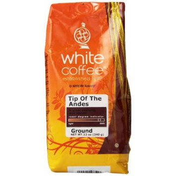 White Coffee Ground Coffee, Tip of The Andes, 12 Ounce