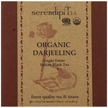 SerendipiTea Organic Tea Darjeeling, 20 Count (Pack of 8)