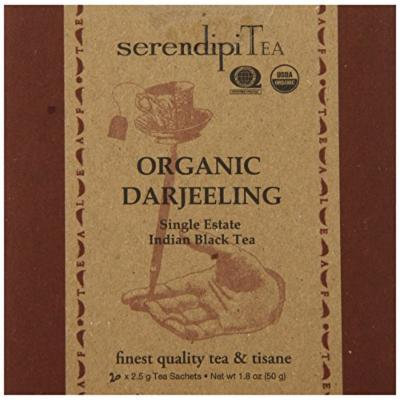 SerendipiTea Organic Tea Darjeeling, 20 Count (Pack of 8)
