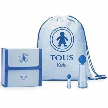 Tous Kids Boy Gift Set,eau De Toilette 100ml / 3.4 Fl.oz Spray Miniature and Blue Backpack.