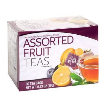 Assorted Fruit Teas (Lemon & Raspbery/Blueberry/Peach) (Two - .63oz (18g Boxes)