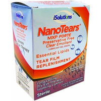 NanoTears MXP Forte Preservative Free Clear Emollient Lubricant Gel Eye Drops, 32 Single Use Vials