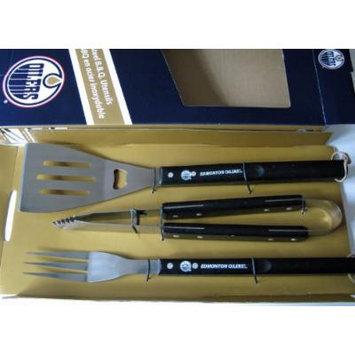 Edmonton Oilers 3pc Stainless BBQ Barbecue Utensil Set