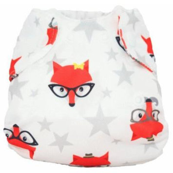 Smart Bottoms Born Smart All in One Baby Diaper, Fantastic Hipster Fox