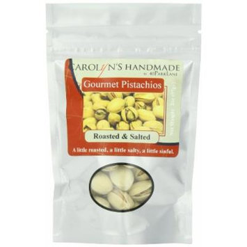Carolyn's Handmade Gourmet Platinum Snack Bag, Roasted and Salted Pistachios, 2 Ounce (Pack of 24)