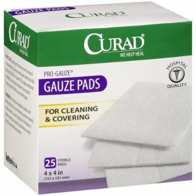 Curad Non-Woven Pro-Gauze, 4 Inches X 4 Inches Pack of 4