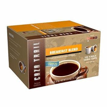 Caza Trail Coffee, Breakfast Blend, 100 Single Serve Cups
