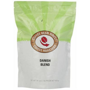 Coffee Bean Direct Danish Blend, Whole Bean Coffee, 16-Ounce Bags (Pack of 3)