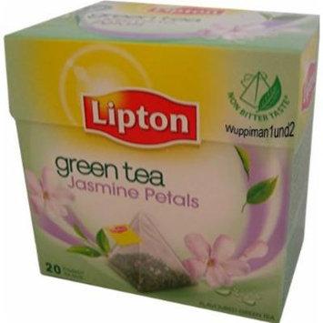 Lipton Green Tea - Jasmine Petals - Premium Pyramid Tea Bags (20 Count Box) [PACK OF 3]