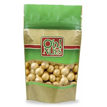Shimmer Gold Pearl 1 Inch Gumballs 2 Pound Bag - Oh! Nuts