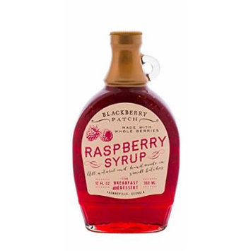Whole Raspberry Syrup, Contains Sugar, 12 oz by Blackberry Patch
