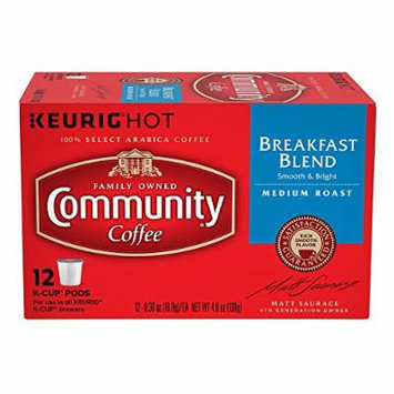 Community Coffee Breakfast Blend Keurig K-Cups, 12 Count