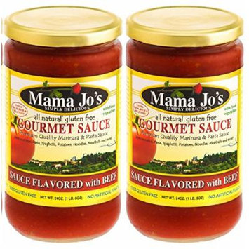 Mama Joe's Delicious Gourmet Sauce with Beef Steak. Beef Stew Bolognese Marinara Spaghetti Pasta Rice Meatballs. All Natural Gluten Free No High Fructose Corn Syrup No MSG Reduced Sodium 2Pack - 24oz