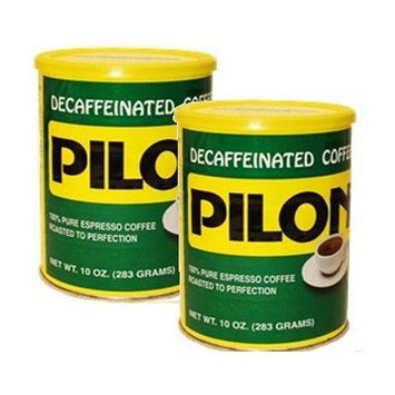 Pilon Decaffeinated Coffee 2 10 oz vacuum packed cans
