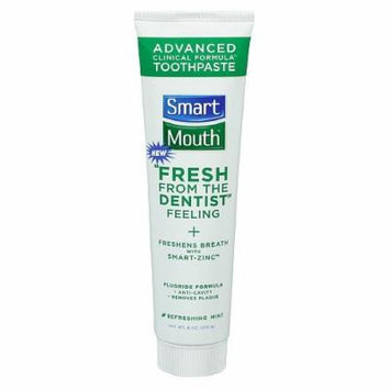 SmartMouth Advanced Clinical Formula Toothpaste with Fluoride, Mint 6 oz (170 g)