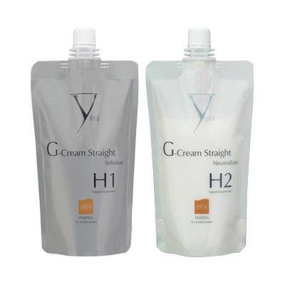Yuko G-Gream Straight Natural-Coarse Hair - Solution & Neutralizer Set (H1/H2 SET)