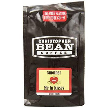 Christopher Bean Coffee Flavored Whole Bean Coffee, Smother Me In Kisses, 12 Ounce