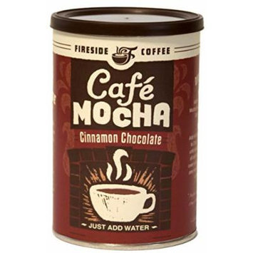 Fireside Coffee Cafe Mocha Instant Flavored Coffee 8 Ounce Canister - Cinnamon Chocolate