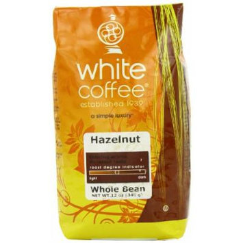 White Coffee Whole Bean Coffee, Hazelnut, 12 Ounce