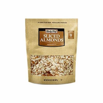 Daily Chef Natural Sliced California Almonds (32 oz.)