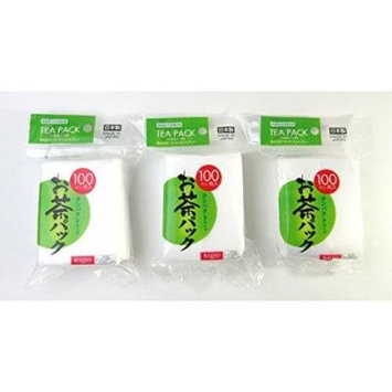 3x100pcs Disposable Filter Bags for Loose Tea -Hard type