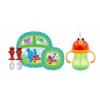 Munchkin Sesame Street Toddler Dining Set with Character Cup, Green