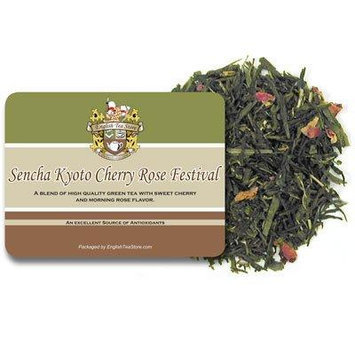 Sencha Kyoto Cherry Rose Festival Green Tea - Loose Leaf - 16oz