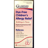 Guardian Dye-Free Children's Bubblegum Flavor Allergy Relief, 4 fl oz