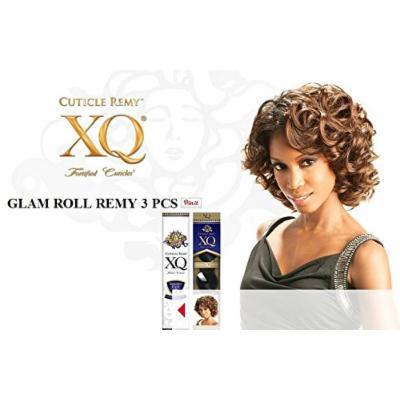 GLAM ROLL REMY 3PCS (#1 Jet Black) - Shake N Go Cuticle XQ Short Cut 100% Human Hair Weave