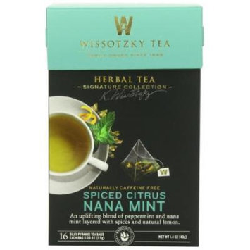 WISSOTSKY TEA NANA MINT SPICED CITR, 16 BG