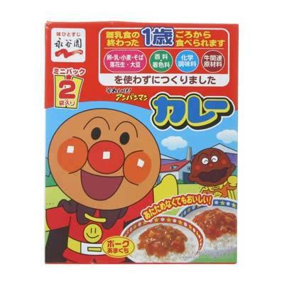 NAGATANIENN Anpanman Mini Pack Curry Pork Sweet Taste 50g-2bags