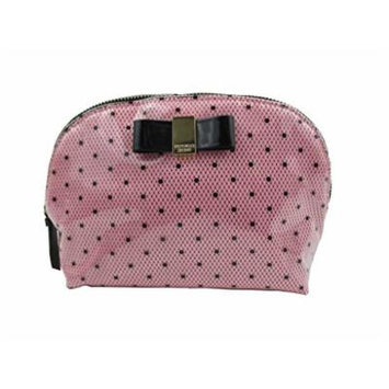 Victoria's Secret Cosmetic Makeup Bag Purse Medium Black Dots ~Sold Out