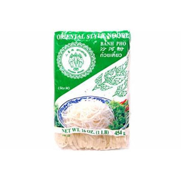 Oriental Style Noodle (Size M / Banh Pho) - 16oz (Pack of 1)
