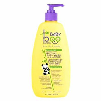 Boo Bamboo Baby Wash and Shampoo, Unscented, 18.6 Fluid Ounce