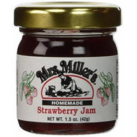 Mrs. Miller's Amish Homemade Strawberry Jam Mini Travel Set - 4 Small Jars - 1.5 Ounces Each