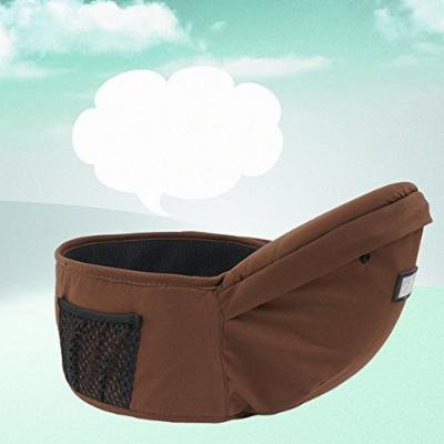 Beddinginn® Chocolate Color Comfortable Useful Cotton Baby Hip Seat with Pocket