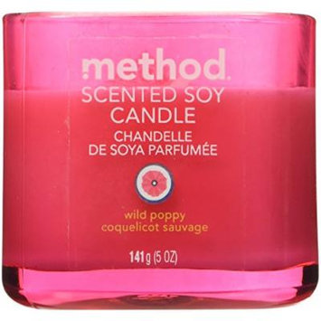 Method Scented Soy Candles, Wild Poppy, 5 Ounce (6 Count)
