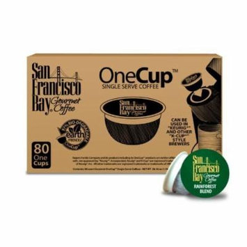 San Francisco Bay Coffee OneCup for Keurig K-Cup Brewers, Rainforest Blend (160 ONE CUPS)