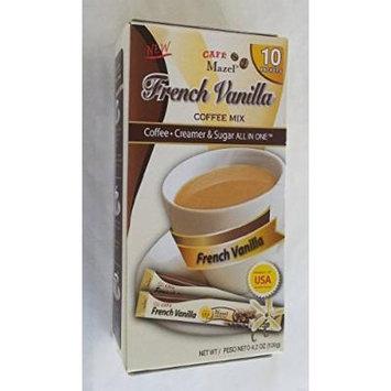 New Cafe Mazel French Vanilla Coffee Mix 4.2oz (2 Pack) (4.2oz)