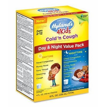 Hyland's Homeopathic 4 Kids Cold 'n Cough Day and Night Value Pack, 8 Fluid Ounce