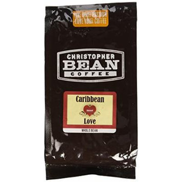 Christopher Bean Coffee Flavored Whole Bean Coffee, Caribbean Love, 12 Ounce