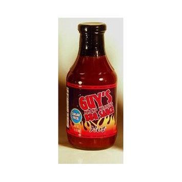 Guy's Award Winning Sugar Free BBQ Sauce, Hot, 18 Oz