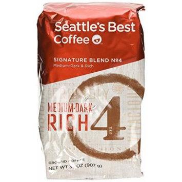 Seattle's Best Level 4 Medium Dark & Rich Ground Coffee 32 Oz. Bag (Pack of 2)