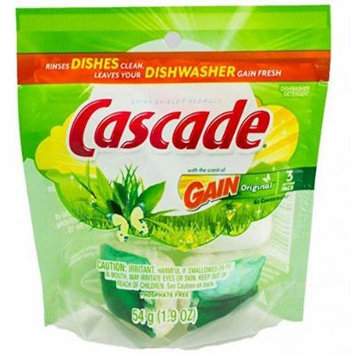 Cascade Actionpacs Dishwasher Detergent With The Scent Of Gain 108 Count